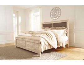 Signature Design by Ashley  Benchcraft Collection California King Panel Bed in Weathered Beige B215B9
