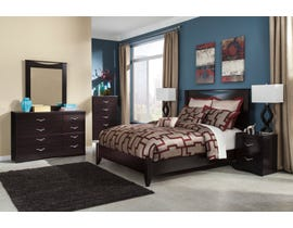 Signature Design by Ashley Zanbury 6pc Queen Bedroom Set in Merlot B217