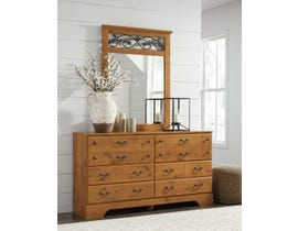 Signature Design by Ashley Bittersweet Dresser and Mirror in Light Brown B219