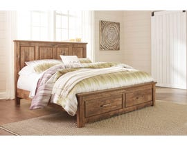 Signature Design by Ashley Blaneville Panel Bed with Storage in Oak Brown B224