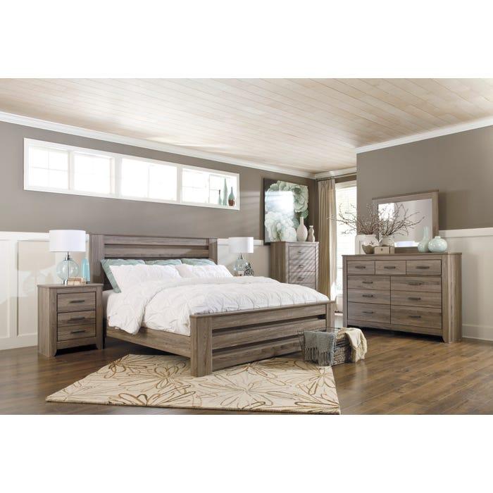 Signature Design by Ashley Bedroom Zelen 6-piece King Bedroom Set in grey B248-31
