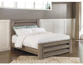 Signature Design by Ashley Zelen 3pc Poster Bed in Grey Oak B248