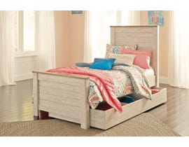 Signature Design by Ashley Willowton twin size bed with under bed storage B267