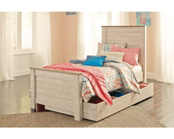 sports shoes bdff4 f271e Signature Design by Ashley Willowton twin size bed with under bed storage  B267