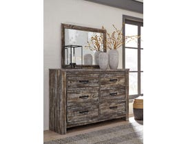 Signature Design by Ashley Lynnton Dresser and Mirror in Rustic Brown Oak B297