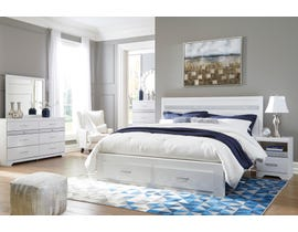 Signature Design by Ashley Jallory Storage Bedroom Set in White Walnut B302