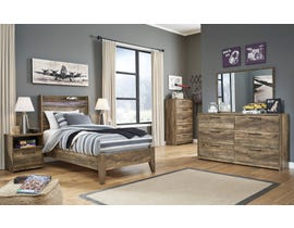 Signature Design by Ashley Rusthaven Twin Panel Bedroom Set in Rustic Brown Oak B322