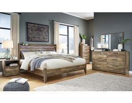 Signature Design by Ashley Rusthaven Panel Bedroom Set in Rustic Brown Oak B322