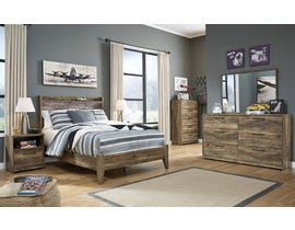 Signature Design by Ashley Rusthaven Full Panel Bedroom Set in Rustic Brown Oak B322