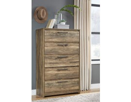 Signature Design by Ashley Rusthaven Chest in Rustic Brown Oak B322