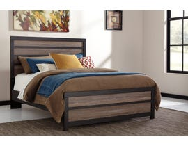 Signature Design by Ashley Harlinton 3pc Panel Bed in Warm Grey/Charcoal B325