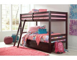 Signature Design by Ashley Twin over Twin Bunk Bed with Storage in Dark Brown B328YB2