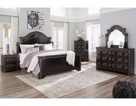 Signature Design by Ashley Banalski Panel Bedroom Set in Dark Brown B342