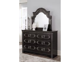 Signature Design by Ashley Banalski Dresser and Mirror in Dark Brown B342