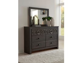 Signature Design by Ashley Paxberry Dresser and Mirror in Vintage Brown B381
