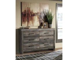 Signature Design by Ashley 6 Drawer Dresser & Mirror in Gray B4403136