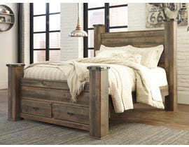 Signature Design by Ashley Queen Poster Bed with Storage in Brown B446B41