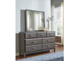 Signature Design by Ashley Dresser and Mirror in Gray B476B1