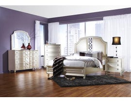 K Elite Avalon Series Bedroom Set in Pearl White B481
