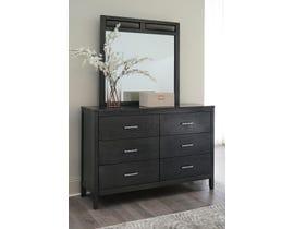 Signature Design by Ashley Delmar Dresser and Mirror in Dark Platinum Grey B483