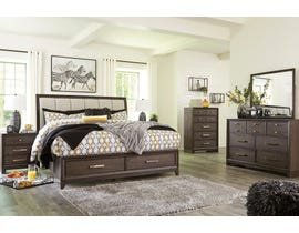 Signature Design by Ashley Brueban Storage Bedroom Set in Rich Chestnut Brown B497