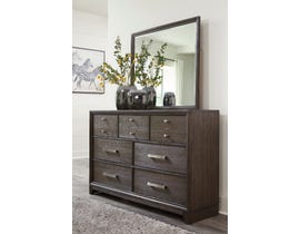 Signature Design by Ashley Brueban Dresser and Mirror in Rich Chestnut Brown B497