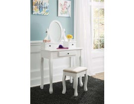 Signature Design by Ashley Vanity and Mirror with Stool in White B502-22