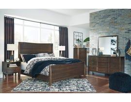 Signature Design by Ashley Kisper Panel Bedroom Set in Brushed Dry Brown B513