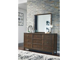 Signature Design by Ashley Kisper Dresser and Mirror in Brushed Dry Brown B513