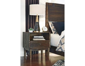 Signature Design by Ashley Kisper Nightstand in Brushed Dry Brown B513