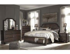 Ashley Adinton Series 6PC King Bedroom Set in Brown B517