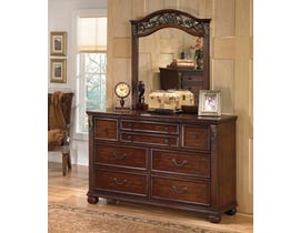Signature Design by Ashley Leahlyn Dresser and Mirror in Warm Brown B526