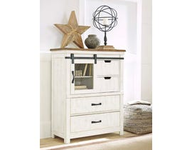 Benchcraft by Ashley Chest of Drawers in White/Brown B549-46