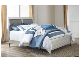 Signature Design by Ashley Panel Bed in Silver B560