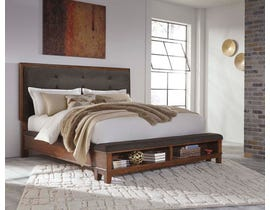 Signature Design by Ashley Queen Upholstered Panel Bed in Medium Brown B594-B2
