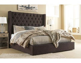 Signature Design by Ashley Norrister Collection Upholstered Bed with Storage in Dark Brown B599