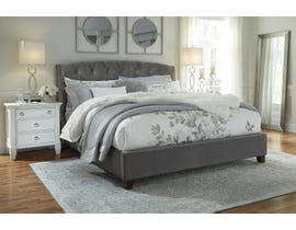 Ashley Kasidon Collection Fabric Queen Bed in Grey B600