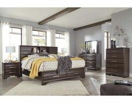 Ashley Andriel 6pc Queen Bedroom Set in Dark Coffee Brown B609