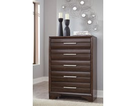 Ashley Andriel Collection Five Drawer Chest in Dark Coffee Brown B609