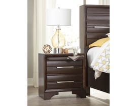 Signature Design by Ashley Andriel Collection Two Drawer Nightstand in Dark Coffee Brown B609