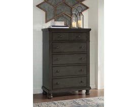Ashley Devensted Collection 5 Drawer Chest in Antique Gray B624