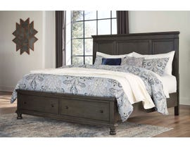 Signature Design by Ashley Benchcraft Collection King Storage Bed in Dark Gray B624B4