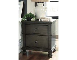 Signature Design by Ashley Benchcraft Collection 2 Drawer Nightstand in Dark Gray B624B4
