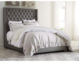 Signature Design by Ashley Coralayne Upholstered Bed in Gray B650