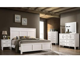 Andover Series Bedroom Set in White B677W
