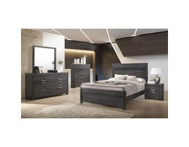 TC Home 6 piece Queen bedroom set in grey B7105