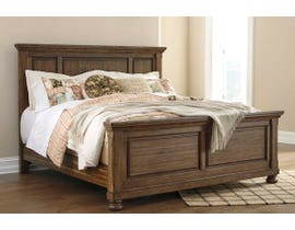 Signature Design by Ashley Flynnter Panel Bed in Tobacco Brown B719