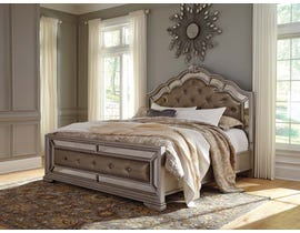 Signature Design by Ashley King Panel Bed in Silver B720B4