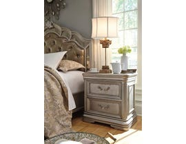 Signature Design by Ashley Nightstand in Silver B720-92