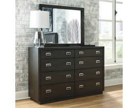 Signature Design by Ashley Hyndell Dresser and Mirror in Dark Espresso B731